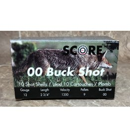 "Score Score 12GA 1350fps 2.75"" 00 Buckshot 10 rnds (12BS27500)"