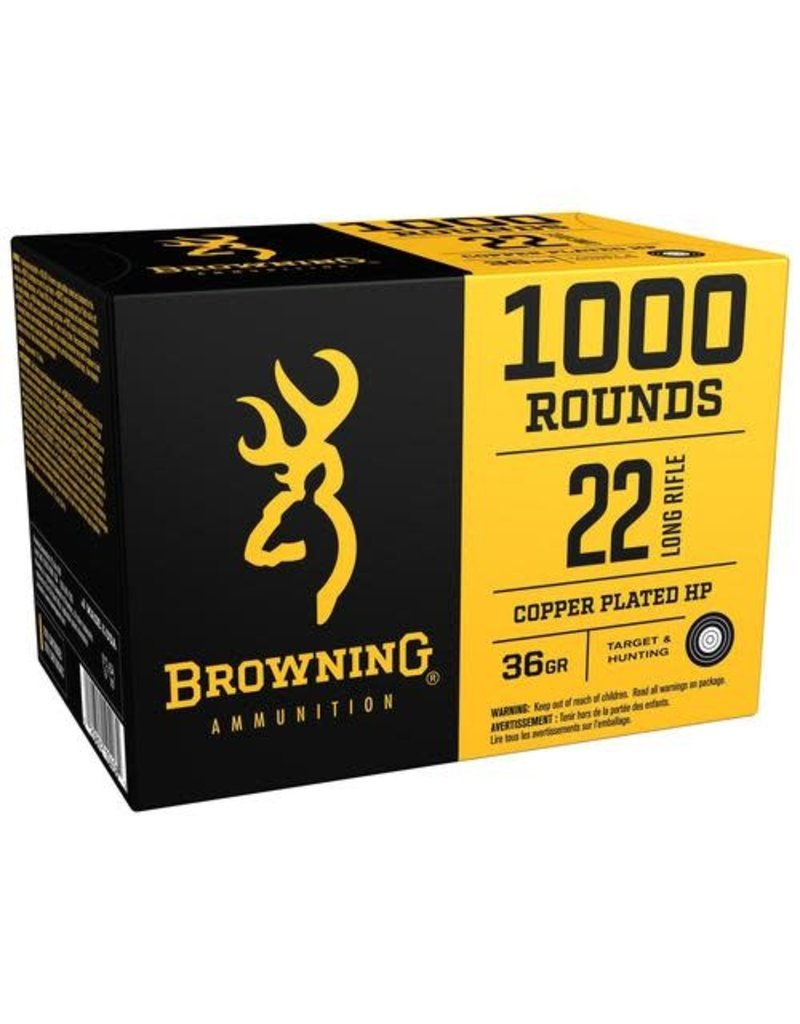Browning Browning 22LR 36 GR. Copper Plated HP 1000 Rounds (B194122000)