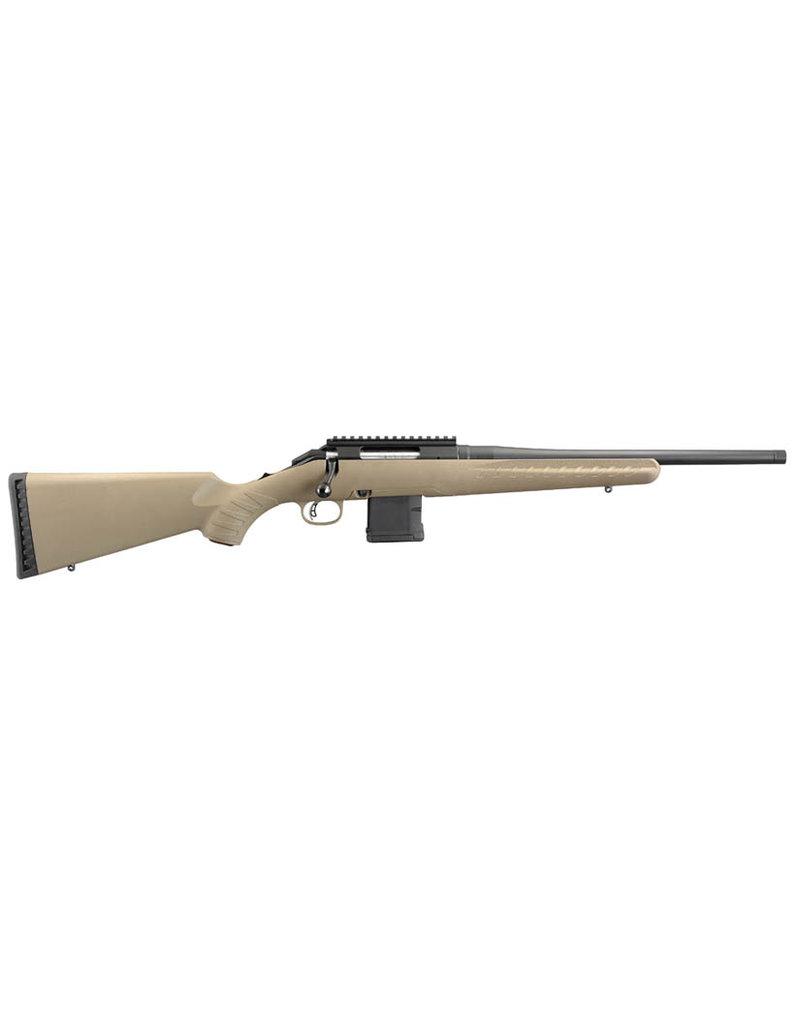 Ruger Ruger Ranch American 5.56 NATO  (36928) Tan syn stock 5 Rnd AR Mag, Adj Trigger