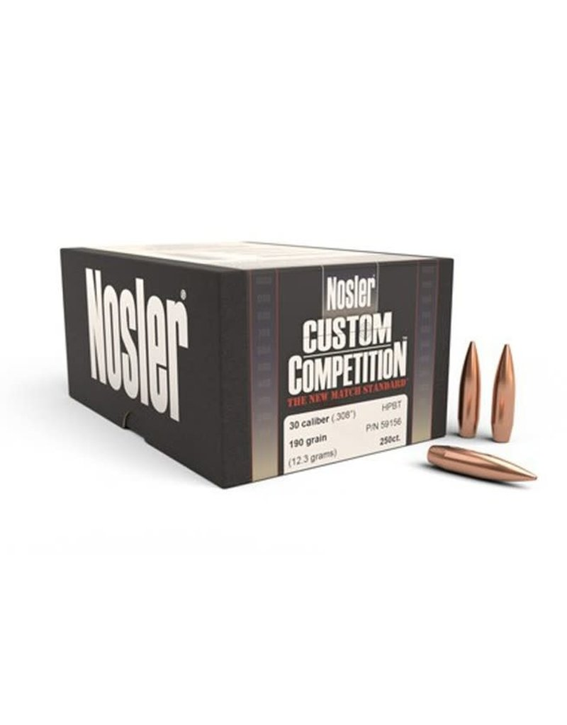 Nosler Nosler Custom  Competition Match Standard 30 HPBT 190 gr (59156) 250Ct.