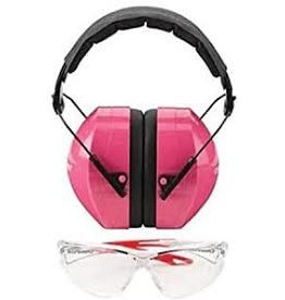 Champion Champion Eyes &Ears Combo Passive Hearing Protec 26DB  Pink, Clear   Ballistic Glasses