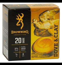 Browning Browning 20 GA 2-3/4 7/8OZ # 8 Shot