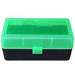 MTM MTM Case-Gard Ammo Box  50 Round Flip-Top 300 R SAUM, Green/Black (RMLD-50-16T)