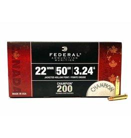 Federal Federal .22 WMR 200 RD Bulk Pack 50Gr JHP (759C)