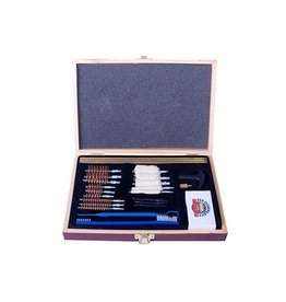 GunMaster GunMaster Universal select 30 pc 22 Cal cleaning kit in wood case (UGC 56W)