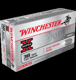 Winchester Winchester 38 S&W145GR Lead Round Nose (WIN-X38SWP)