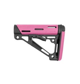 Hogue Hogue AR-15/M16 Pink OverMolded Collapsible Buttstock, Mil-Spec