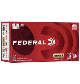 Federal Federal 9mm Luger 115gr FMJ RN, 50rnds