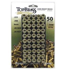 Top Brass Top Brass 308 Win Unprimed Brass 50ct. w/ tray