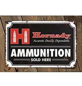 "Hornady Hornady ""Ammo Sold Here"" Tin Sign"