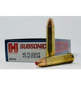 Hornady Hornady Subsonic 45-70 Govt.  410gr Sub-X (82742)