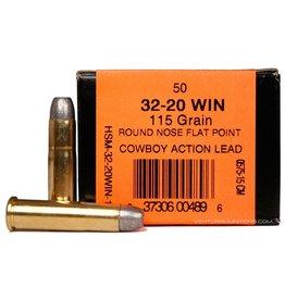HSM HSM 32-20 Win 115gr RNFP Cowboy Action Lead 50rd