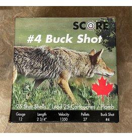 """Score Score Buckshot 12ga 2 3/4"""", 27 Pellet #4 Buck 25rnd (12BS4)"""