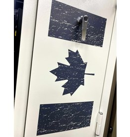 HQ Outfitters HQ Outfitters 24 Gun, Fire Rated Safe w/ Electronic Lock, Canada Flag White Out (HQ-SFR-24CAF)