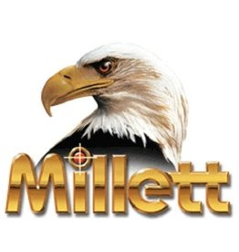 "Millett Millet 1"" Turn In Nickel Extra High Rings"