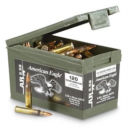 American Eagle Federal American Eagle 5.56 Nato 55gr FMJ 120rd w/Ammo Can (XM193LCPC120)