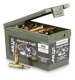 American Eagle Federal American Eagle 5.56 Nato 55gr FMJ 120rd w/Ammo Can (XM193LCPC120)