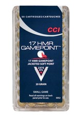 CCI CCI 17 HMR Gamepoint 20gr 50rd box (0052)
