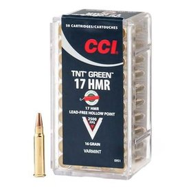 CCI CCI 17 HMR TNT Green 16gr Hollow Point (0951)