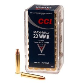 CCI CCI 22WMR Maxi Mag 40gr Total Metal Jacket 50rd box (0023)