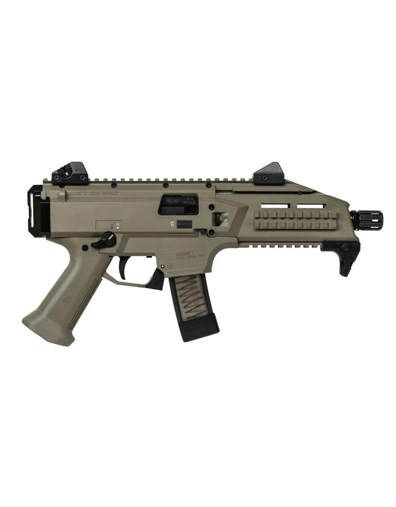 "CZ CZ Scorpion Evo 3 S1 Tactical Pistol 9mm Synthetic FDE (Tan) stock 7"" Black barrel (3664-0702-7817127)"