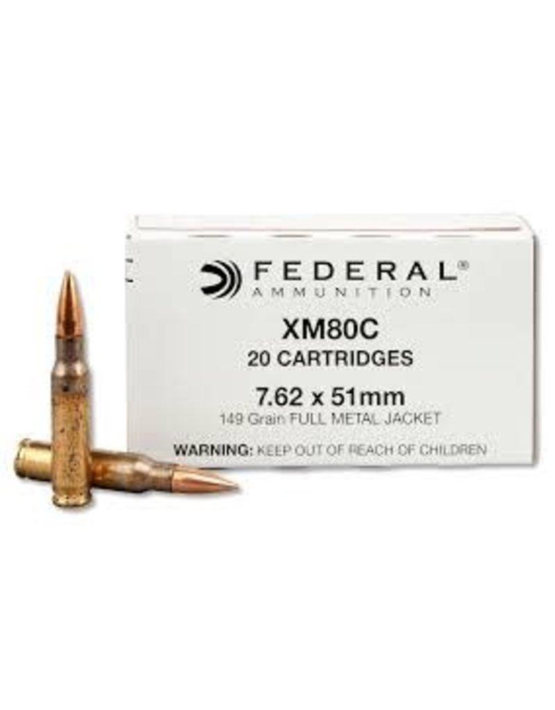 Federal Federal Lake City 7.62x51 149gr FMJ (XM80C)