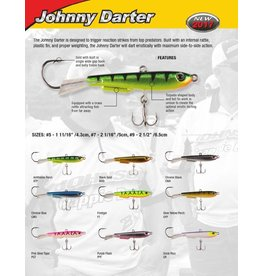 "Johnson Johnny Darter #7 2"" brw yellow"