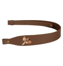 "Levy Levy Garment Leather2 1/4"" Cobra Moose on Brown (SNG20EM-BRN)"