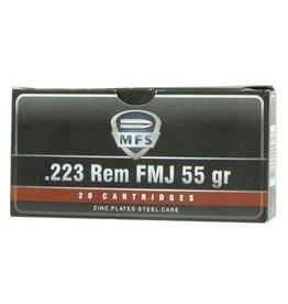 MFS MFS 223 Rem 55gr FMJ case - 500rds (2317565)