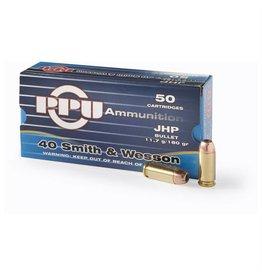 PPU PPU 40 S&W 180gr JHP 50rd box (R34.01)