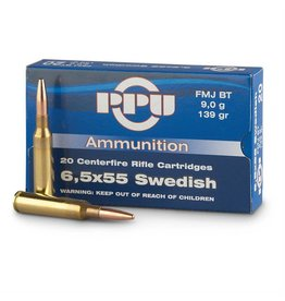 PPU PPU 6.5x55 Swiss 139gr FMJ BT