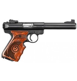 "Ruger Ruger Mark III Target 22LR Semi Auto wood grip 5 7/8"" blued barrel (10159)"