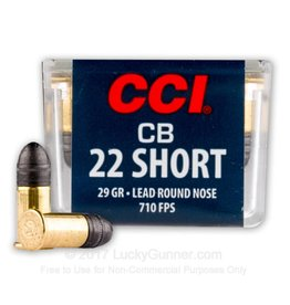 CCI CCI 22 Short CB 29gr LRN 100rd box (0026)