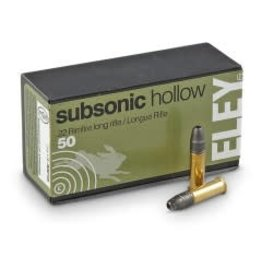 ELEY Eley Subsonic Hollow Point 22 LR 40gr 50rd box (5400)
