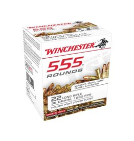 Winchester Winchester 555 Pack 22 LR Copperplated HP 555rd box (22LR555HP)