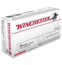 Winchester Winchester 9mm Luger 115gr FMJ 50rd box (Q4172)