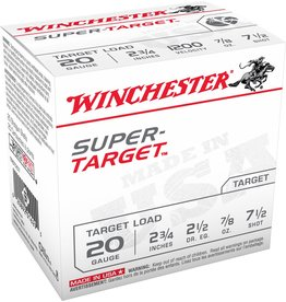 "Winchester Winchester Target 20GA 2.75"" 7/8 oz #7.5 (TRGT207)"