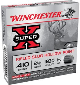 "Winchester Winchester 410GA 2 1/2"" 1/5oz Rifled HP Slugs 5rd box (X41RS5)"