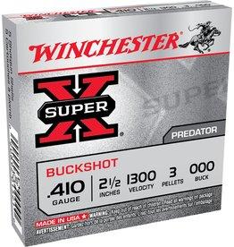 "Winchester Winchester Super X 410GA 2.5"" 000 Buckshot 5rd box (XB41000)"