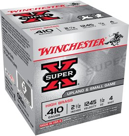 """Winchester Winchester Super X 410GA 2.5"""" 1/2oz #4 (X414)"""