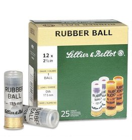"Sellier & Bellot Sellier & Bellot 12ga 2 5/8"" Rubber Ball (V075212)"