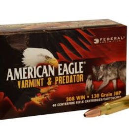 Federal Federal American Eagle 308 Win 130gr JHP Varmint (AE308130VP)