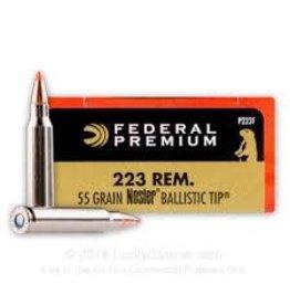 Federal Federal Premium 223 Rem 55GR Nosler Ballistic Tip (P223F)