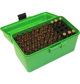 MTM MTM Deluxe H-50 Handled 50rd Flip Top Rifle Ammo Box