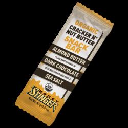 Honey Stinger Cracker N' Nut Butter Snack Bars: Almond Butter Dark Chocolate, Box of 12