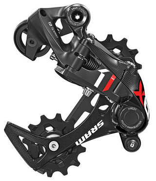 SRAM X01 DH X-Actuation 10sp rear derail, short cage, red