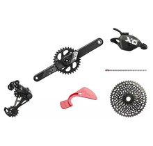 SRAM X01 Eagle DUB Groupset: 175mm Boost 32 Tooth Crank, Rear Derailleur, 10-50 12-Speed Cassette, Trigger Shifter, and Chain, Black