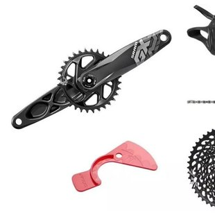 SRAM GX Eagle DUB Groupset: 170mm 32 Tooth Crank, Rear Derailleur, 10-50 12-Speed Cassette, Trigger Shifter, and Chain