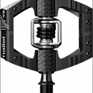 """Crank Brothers Mallet Enduro Pedals - Dual Sided Clipless with Platform, Aluminum, 9/16"""", Black/Silver"""