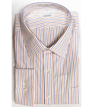 Enro Enro Morgan Stripe Orange Spread Collar Shirt